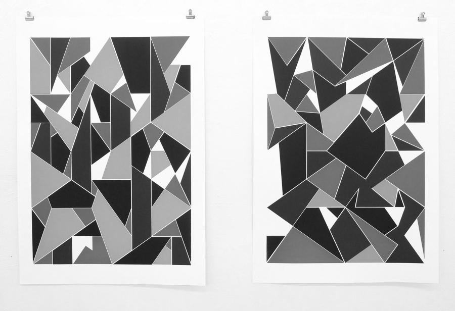 LELLO//ARNELL: <em>Apophenia (Greyscale)</em> | 2016 | Silkscreen on paper | 100cm x 70cm