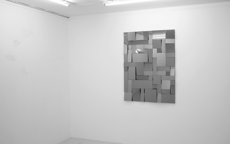 LELLO//ARNELL: <em>A Clear, Obstructed View</em><br/>2012, Tinted mirror and Valchromat MDF, 120cm x 90cm