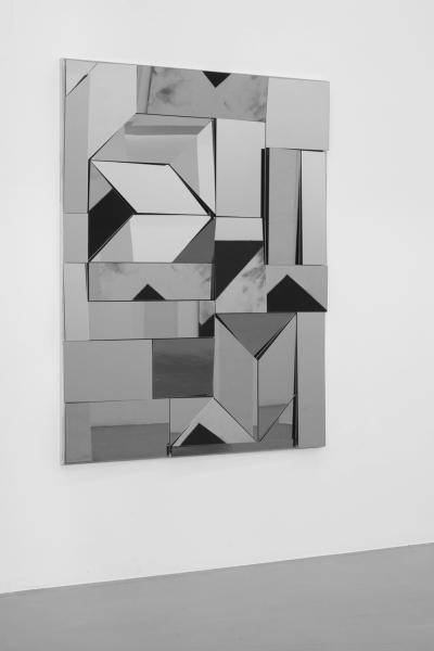 LELLO//ARNELL: <em>Apophenia (Grey)</em> | 2014 | Tinted mirror, oak, MDF | 160cm x 120cm