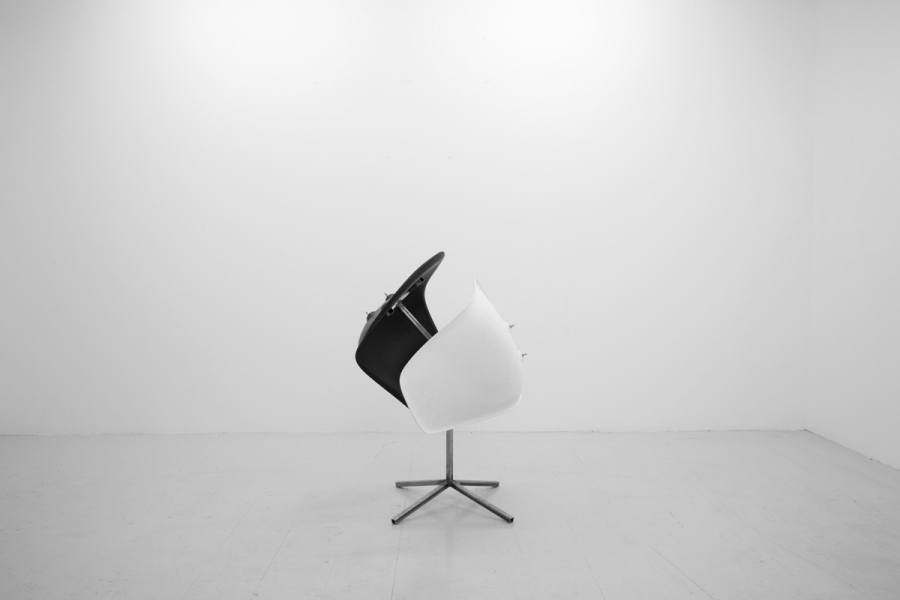 LELLO//ARNELL: Sanctuary of Duality | 2013 | 80cm x 55cm x 60cm | Eames chair bases, steel