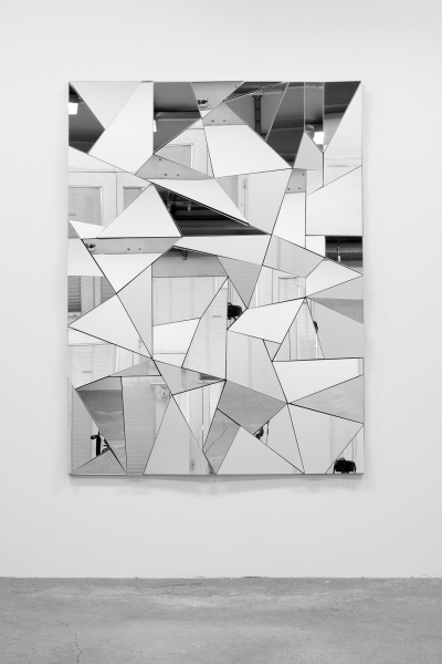 LELLO//ARNELL: <em>Apophenia</em> | 2015 | Mirror, oak, Valchromat | 160cm x 120cm