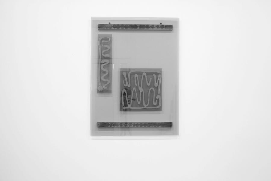 LELLO//ARNELL: <em>Metamorphosis</em>   2015   Tinted glass, oak   120cm x 90cm