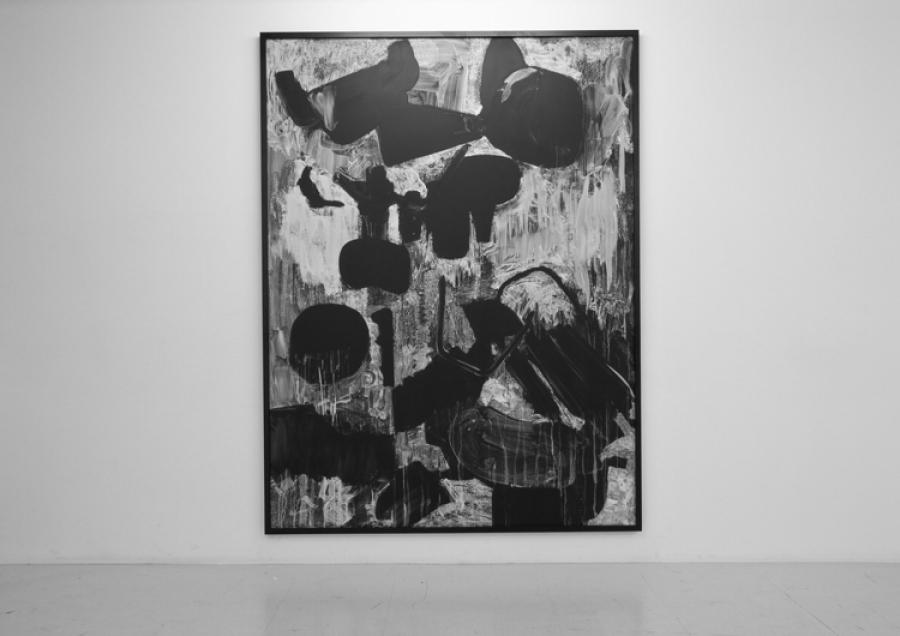 LELLO//ARNELL: <em>Examination of Modern Living (after Herbert Matter)</em><br/>2011 | Chalk on blackboard, framed | 200cm x 150cm