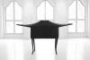 LELLO//ARNELL: <em>The Lesser Ark of Transmission</em>   2009   Chairs, radio, re-enforced shrink-wrap   120cm x 40cm x 180cm